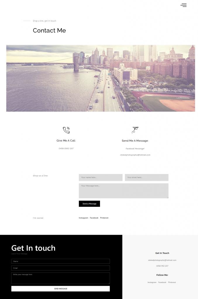 Stoked Photography Web Design Case Study