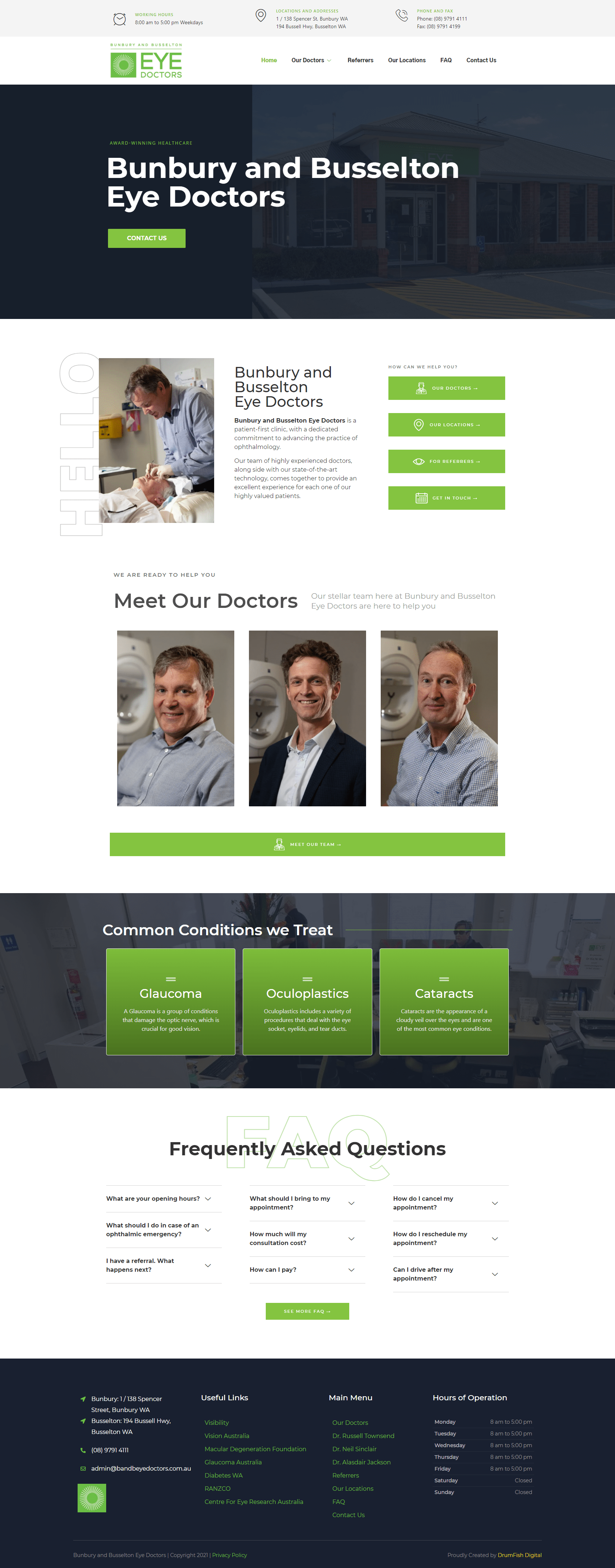 Bunbury and Busselton Eye Doctors Home Page