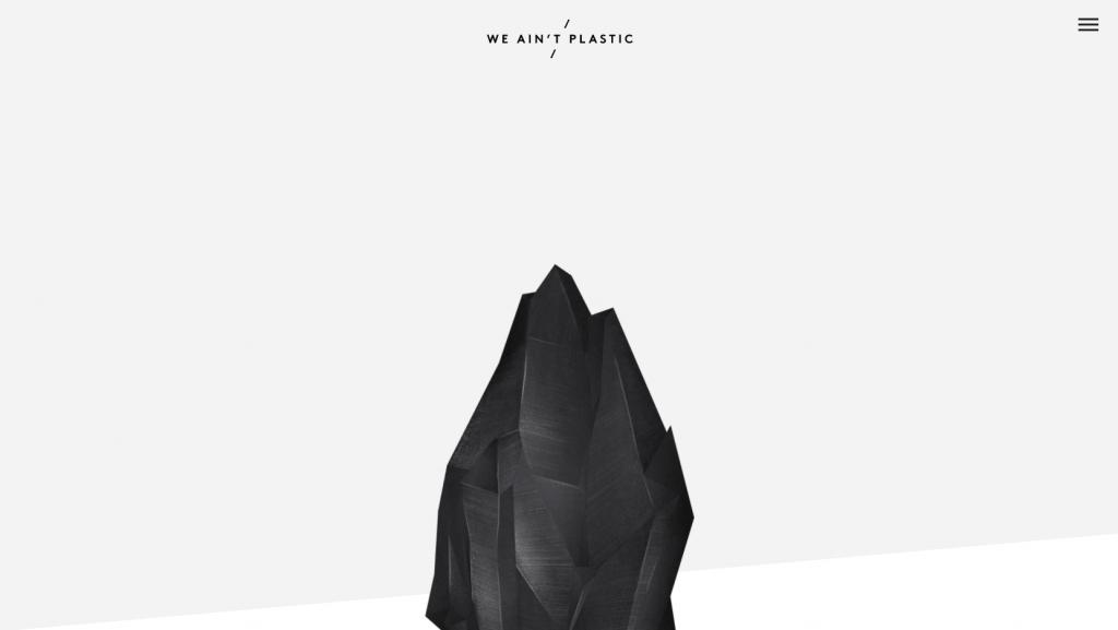 minimalist-website-design-we-aint-plastic